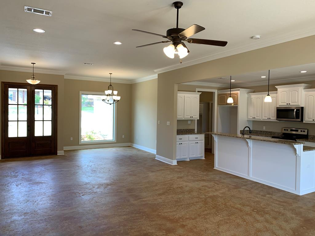 Open floor plan.  All flooring in this home is sta